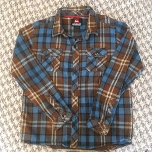 Quicksilver long sleeve flannel